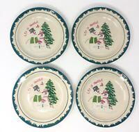 Vintage Atico International Let it Snow Salad Dessert Plates Set of 4 *EXCELLENT