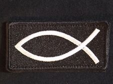 JESUS FISH CHRISTIAN USA INFIDEL CRUSADER ICHTHYS VELCRO® BRAND SWAT OPS PATCH
