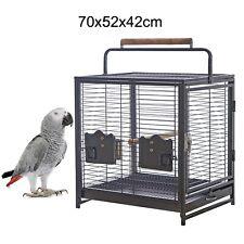 70cm Supreme Portable Bird Cage Pet Travel Carrier Perch Stand Parrot 70x52x42cm