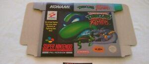 TMNT Tournament Fighters - SNES / Super NES - Repro Box / Replacement Box