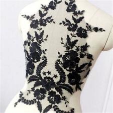 Super Luxury Black Lace Appliques Cotton Ivory Exquisite Wedding Bridal Veil