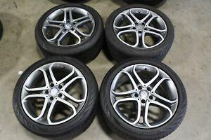 "18"" Mercedes CLS400 Factory OEM Wheels Rims Continental Tires 85430 85431"