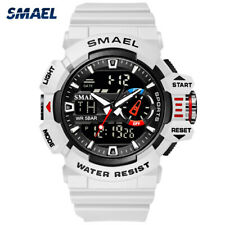 SMAEL Sport Watch Dual Time Men Quartz Watches Fashion LED Digital Wristwatches
