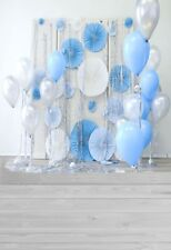5x7ft Birthday Balloon Photograph Background Party Paper Fan Decoration Backdrop