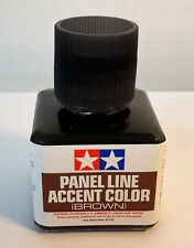 Tamiya 87132 Panel Line Accent Color 'BROWN' W/ Fine Brush 40ml Bottle