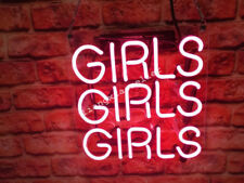New Girls Girls Girls Man cave Wall Decor Neon Art Sign Lamp Handmade light sign