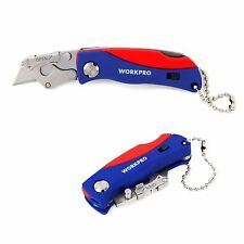WORKPRO Mini Folding Lock Back Utility Knife 5Blade More ABS Handle Quick Change