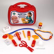 stabiler Arztkoffer mit Zubehör für Kinder Spielzeug Doktorkoffer Kunststoff