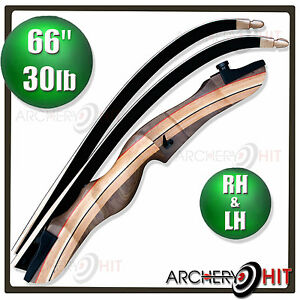 Wooden Recurve Bow 66 Inch Archery Package