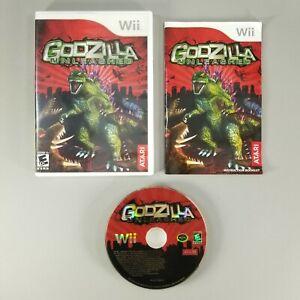 Godzilla: Unleashed (Nintendo Wii, 2007) Complete with Manual CIB