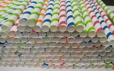 More details for smoothie jumbo straws 12mm x 210mm, thick bubble tea paper straws multicolour
