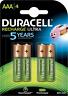 Duracell Recharge Ultra Akku AAA HR03 900mAh vorgeladen 4er Blister Micro Mini