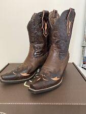 Cuero genuino botas de vaquero