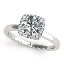 Solitär Ring aus Weißgold mit Diamanten