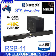 "Klipsch RSB-11 Premiere Soundbar -  8"" Wireless Subwoofer - 4K HD Video Pass"