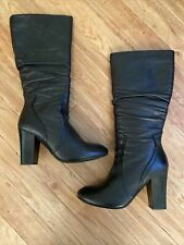 OFFICE Black Leather Boots Size 40 UK 7