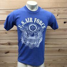 Vtg 1991 US Air Force Mens T-Shirt Small Blue White Short Sleeve Qualitees B11