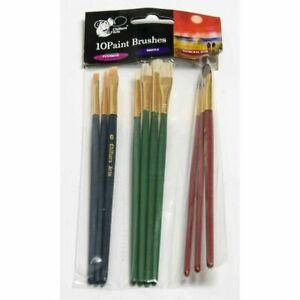 Paint Palettes / 10Pcs/Set Wooden Paint Brushes Artists Watercolor Oil Painting