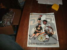 2001 Boston Bruins 77 Ray Bourque Commemorative Retirement Program Banner Game