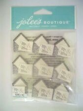 JOLEES BOUTIQUE WEDDING MR & MRS ENVELOPES REPEATS SCRAPBOOK STICKERS