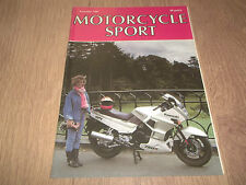 MOTORCYCLE SPORT MAGAZINE NOVEMBER 1987 ~ ENDURANCE CHAMPIONSHIP / LIEGE RALLY