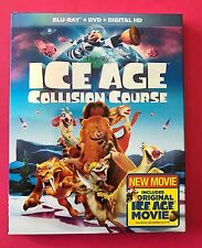 ICE AGE COLLISION COURSE BLU-RAY+DVD+DIGITAL HD )WITH SLIP COVER 2016