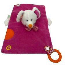 Capelli Pink Lovey White Mouse Security Blanket Teether Plush Toy