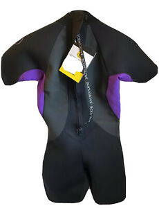 Women's Size Large Body Glove Springsuit Black and Purple Surfing Wetsuit