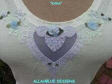 ~KARA~Pale Kiwi TANK w/ Venise Heart cut out