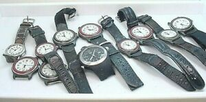 11 PIECE SWISS ARMY WRISTWATCH GROUP  VARIETY 4 REPAIR  PARTS UNTESTED  AS IS