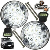 Land Rover Defender Genuine Wipac LED Clear Rear Stop & Tail Pair 73mm S6065LED