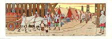 JJ MIDDERIGH Vtg & Rare 1937 Historical Chromolitho ROMANS IN GAUL, Gallic Wars