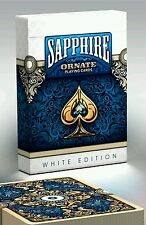 ORNATE WHITE EDITION SAPPHIRE no brand  playing cards deck