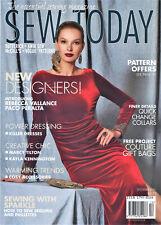 SEW TODAY Magazine DECEMBER 2016 Features Vogue Kwik Sew Butterick McCall's VGC