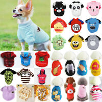 Cartoon Pet Dog Warm Jumper Sweater Clothes Puppy Cat Knitted Coat Winter Outfit