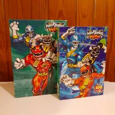 SEALED Power Rangers Wild Force 100 Piece Puzzle Lot of 2 (2002 RoseArt) RARE