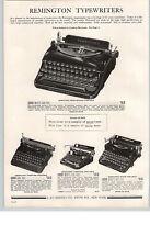 1938 PAPER AD Remington Streamline Portable Typewriter Speed Noiseless
