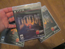 Doom 3 -- BFG Edition PS3 SONY + DOOM POSTER  NEW FACTORY SEALED BUT READ