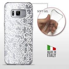 Galaxy S8 TPU CASE COVER GEL PROTETTIVA TRASPARENTE KEITH HARING