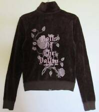 """Juicy Couture Womens """"Grant"""" Dolls of the Valley L/S Velour Jacket (P) NWT"""