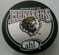 MANCHESTER MONARCHS VINTAGE AHL OFFICIAL VEGUM MFG. HOCKEY PUCK MADE IN SLOVAKIA