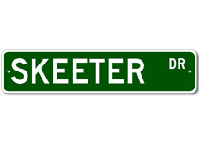 SKEETER Street Sign - Personalized Last Name Signs