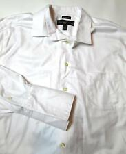 Pronto Uomo Men's Tuxedo Shirt Size 17 32/33 Slim Fit French Cuff White #E4