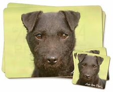 Patterdale Terrier Dog 'Love You Dad' Twin 2x Placemats+2x Coasters Se, DAD-89PC