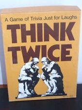 Reiss Think Twice Tivia Game 1974