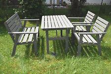 Kieferholz Gartengarnitur Garten Gartenmöbel Sitzgruppe Gartensitzgarnitur GRAU