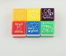 2x Teacher Self Inking Stamper Reward Stamps Praise Motivation Sticker School3ry