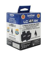 Brother LC41BK Black Ink Cartridge LC412PKS Genuine New