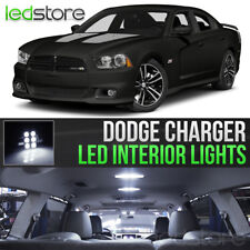 2011-2014 Dodge Charger White Interior LED Lights Kit Package