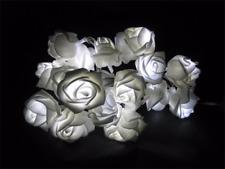 20 LED Blanco Rosa Flor Con Batería Luces Árbol Cadena intermitente espejo florero